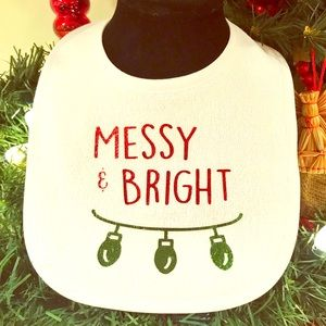 Other - Messy & Bright Baby Bib - Great Gift!